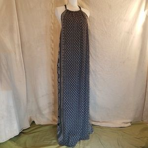 Beautiful Flowy Elan Maxi Dress Black Print Medium